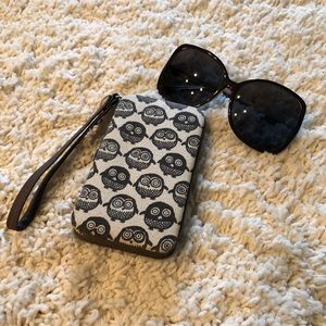 Mossimo Owl Phone Case/Wallet Wristlet